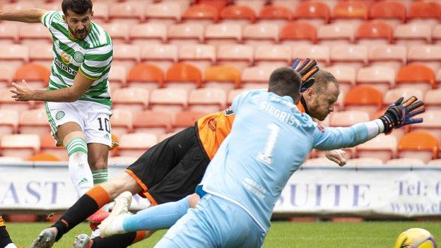 Defeat was cruel on the Dundee United goalkeeper, whose heroics looked to have secured a point for his side