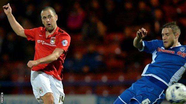 Joe Cole made his Coventry City debut in their 0-0 draw at Rochdale
