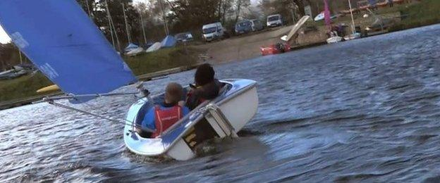 Goz and Ross nearly capsize