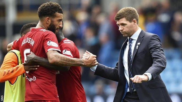 Steven Gerrard and Connor Goldson