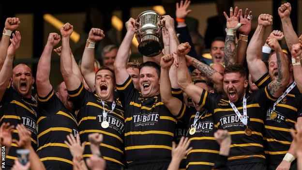 Cornwall lift the Bill Beaumont Cup
