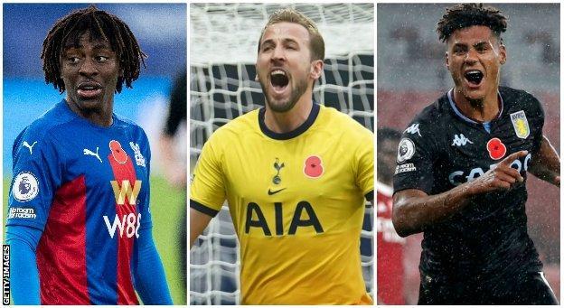 Eberechi Eze (Crystal Palace), Harry Kane (Tottenham), Ollie Watkins (Aston Villa)