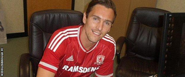 Middlesbrough's new singing Stewart Downing
