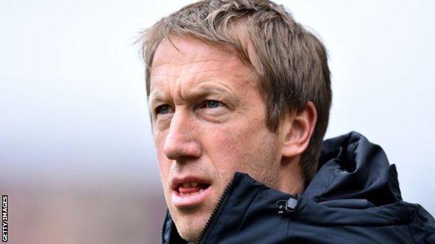 Brighton head coach Graham Potter