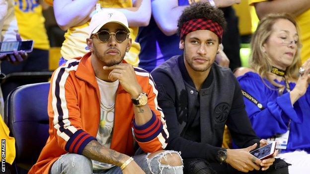 Lewis Hamilton and Neymar