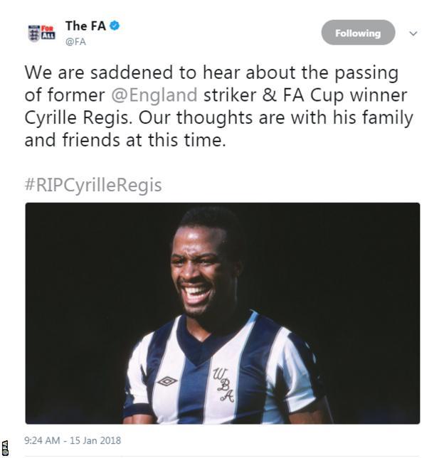 The FA tweet