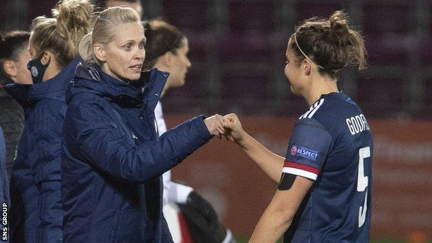 Shelley Kerr will not be in the dugout for Scotland's qualifiers against Portugal and Finland