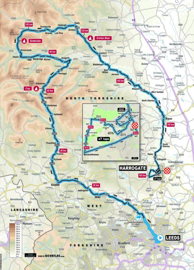 Elite men road race route