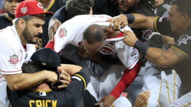 Cincinnati Reds v Pittsburgh Pirates: MLB hands out eight bans after mass brawl thumbnail