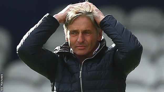 Charlton head coach Jose Riga