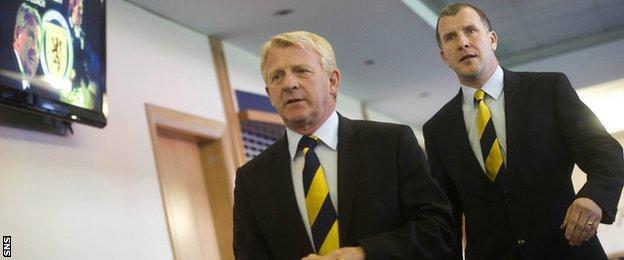 Gordon Strachan and Stewart Regan