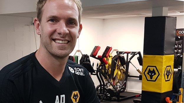 Wolves' head of fitness Antonio Dias