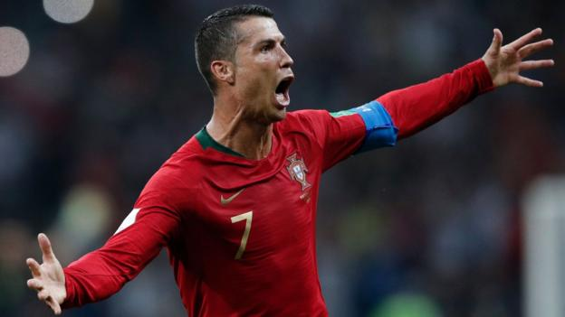 c0346d496d4 World Cup 2018  Cristiano Ronaldo scores hat-trick as Portugal and Spain  draw 3-3 - BBC Sport