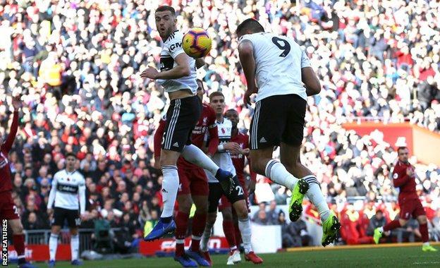 Fulham striker Aleksandar Mitrovic