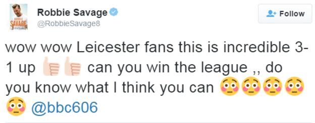 Robbie Savage tweet