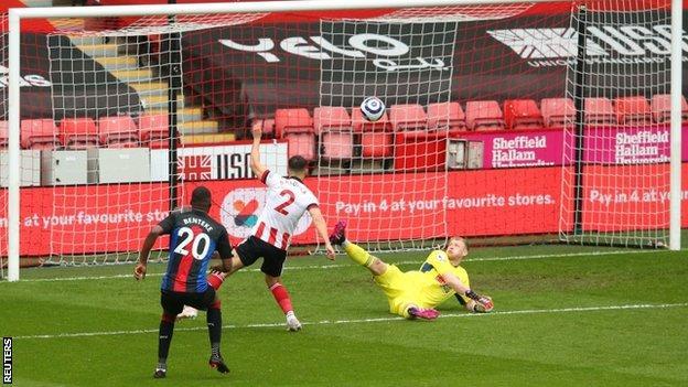 Christian Benteke scores against Sheffield United