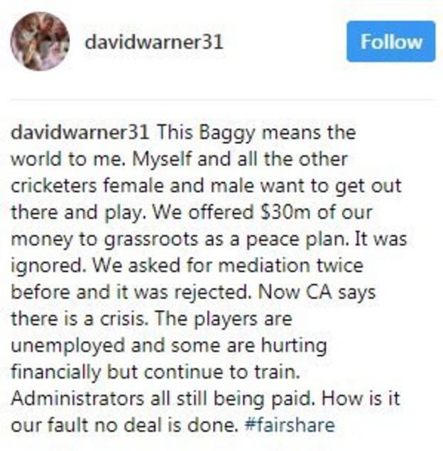 Instagram / David Warner