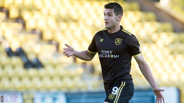 Livingston striker Nikolay Todorov