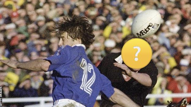 Action from the first Rugby World Cup final in 1987