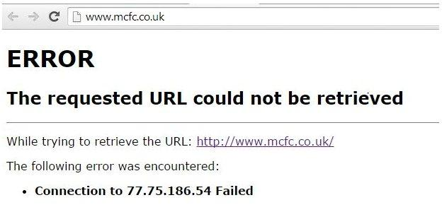Manchester City's website was not available shortly after the Guardiola announcement