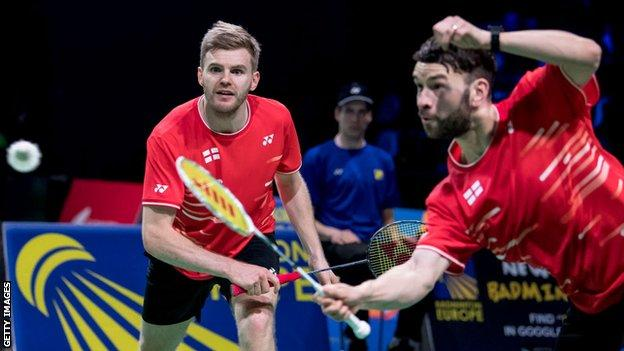 Marcus Ellis and Chris Langridge in action at the 2019 European Mixed Team Championships