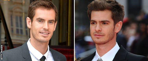 Andy Murray and Andrew Garfield