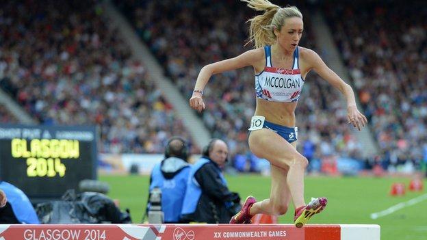 Eilish McColgan finished sixth in the steeplechase at Glasgow 2014
