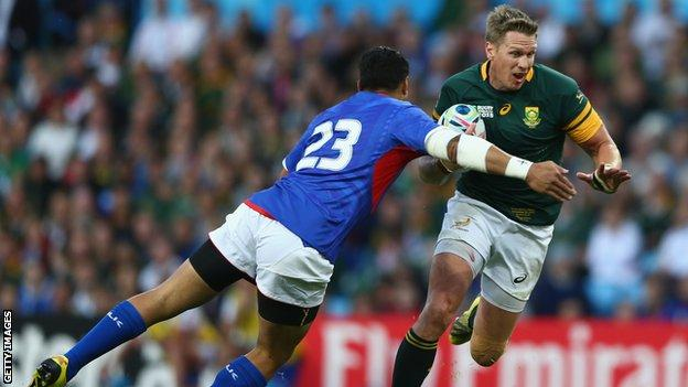 Jean de Villiers in action for South Africa