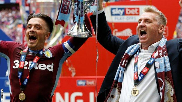 Jack Grealish and Dean Smith