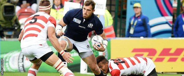 Scotland overpowered Japan at the World Cup last year