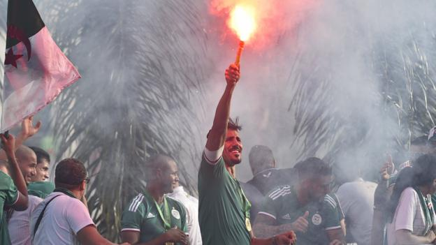 Africa Cup of Nations: Algeria celebrate win with thousands of fans in Algiers