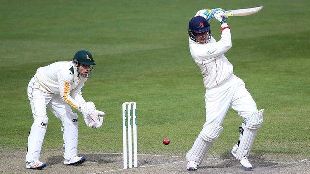 Lancashire batsman Liam Livingstone and Nottinghamshire wicketkeeper Chris Read