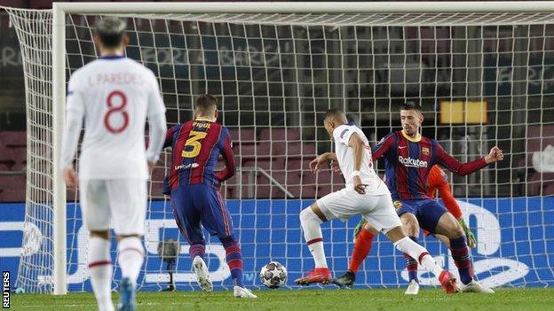 Kylian Mbappe scored