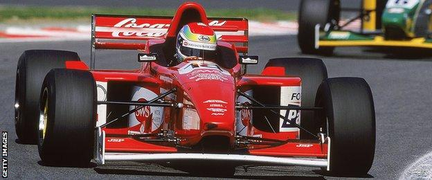 Justin Wilson competing in F3000