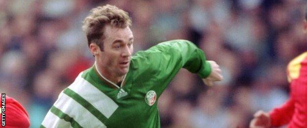 John Sheridan in action for the Republic of Ireland