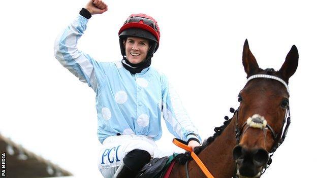 Rachael Blackmore after winning aboard Telmesomethinggirl