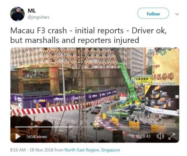 Footage from Macau
