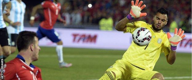 Sergio Romero played against hosts Chile in the Copa America 2015 final earlier this month