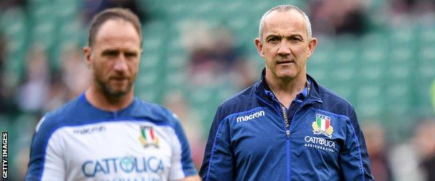 Mike Catt and Conor O'Shea