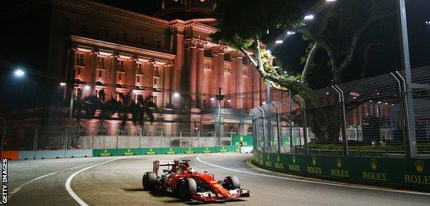 Sebastian Vettel at the Singapore GP