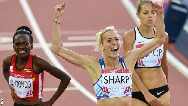 Sharp won Commonwealth Games silver in Glasgow in 2014