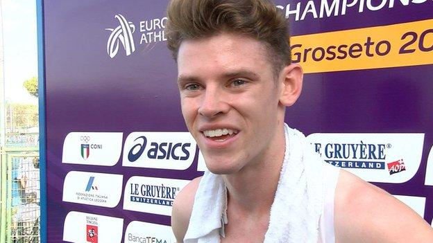 Welsh 1500m runner Jake Heyward