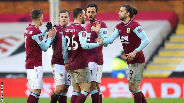 Burnley celebrate win