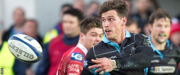Glasgow Warriors scrum-half Grayson Hart
