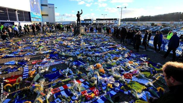 Tributes at Cardiff