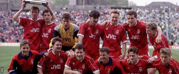 Aberdeen last lifted the Scottish Cup in 1990 and last reached the final in 2000