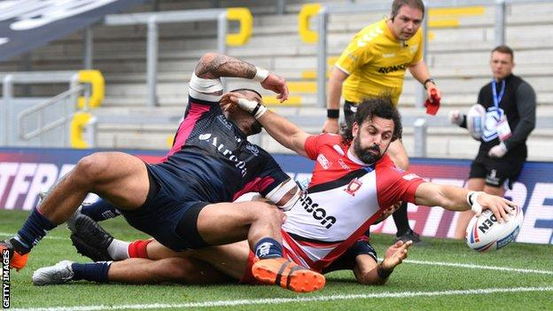 Hull played at Salford Red Devils over the weekend