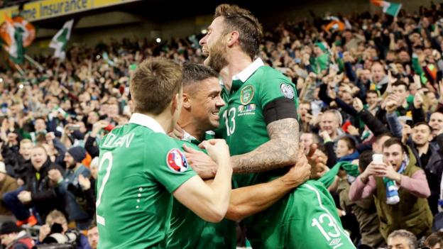 The Republic of Ireland also qualified for Euro 2016 by beating Bosnia-Herzegovina in a play-off in November. Stoke's Jonathan Walters scored both goals in the decisive 2-0 win in the second leg at the Aviva Stadium