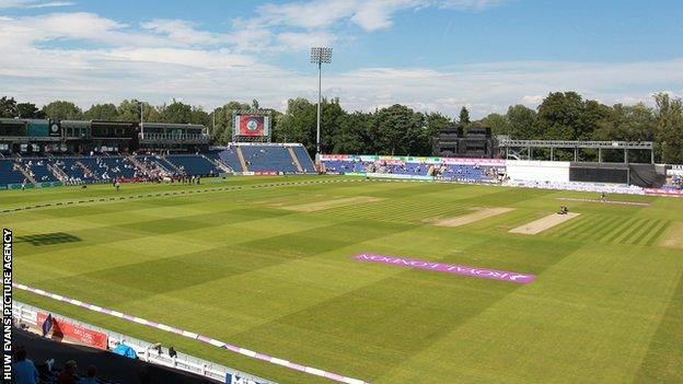 The pitch at the Swalec Stadium is under an ECB investigation