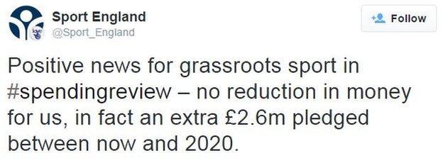 Sport England on Twitter